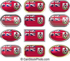 κουμπιά , δώδεκα , σημαία , βερμούδα