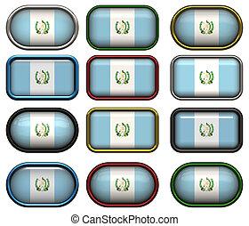 κουμπιά , δώδεκα , σημαία , γουατεμάλα