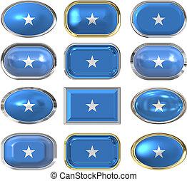 κουμπιά , δώδεκα , σημαία , σομαλία