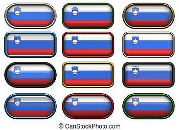 κουμπιά , δώδεκα , σημαία , slovenia