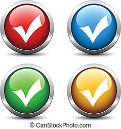 κουμπιά , θετικός , checkmark, μικροβιοφορέας