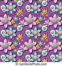 κουμπιά , πρότυπο , σχήμα , flowers., seamless