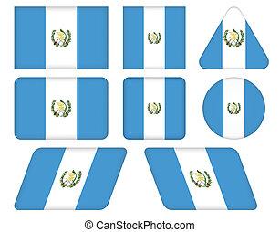 κουμπιά , σημαία , γουατεμάλα