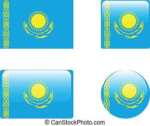 κουμπιά , σημαία , καζακστάν , &