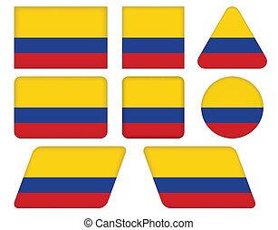 κουμπιά , σημαία , κολομβία
