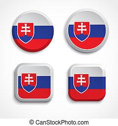 κουμπιά , σημαία , slovakia