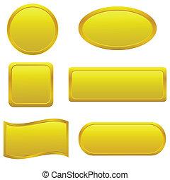 κουμπιά , χρυσαφένιος