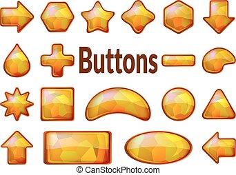 κουμπιά , χρυσαφένιος , θέτω , γυαλί