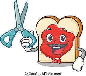 κουρέας , πελτέs , χαρακτήρας , γελοιογραφία , bread
