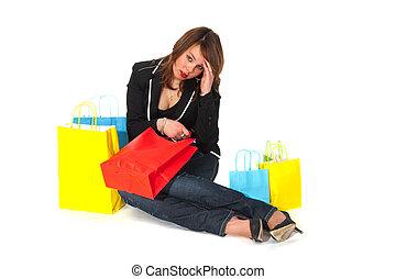 κουρασμένος , από , ψώνια