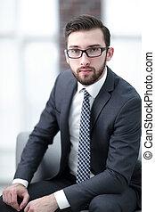 κουραστικός , επιχειρηματίας , γυαλιά , ελκυστικός , πορτραίτο