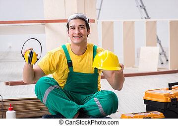 κουραστικός , ξυλουργόs , κίτρινο , ανάδοχος έργου , συνεργείο , hardhat