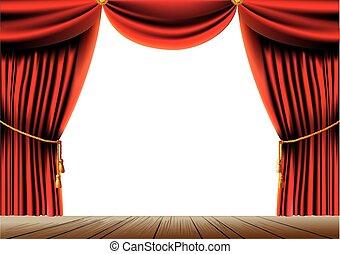 κουρτίνα , θέατρο , κόκκινο