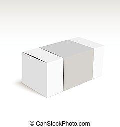 κουτί , άσπρο , πακέτο