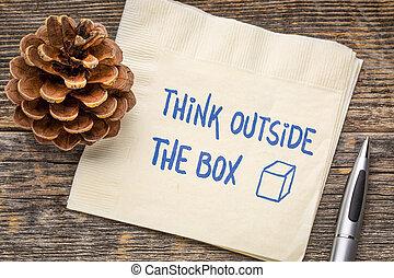 κουτί , έξω , γενική ιδέα , κρίνω