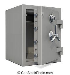 κουτί , ανοιγμένα , κλειδαριά με συνδυασμό , ακίνδυνος , απόδοση , closeup , 3d