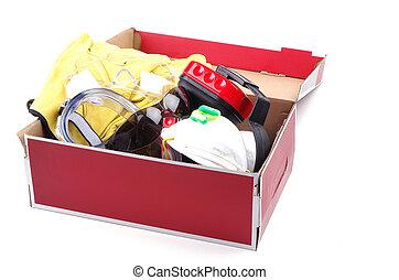 κουτί , από , ασφάλεια είδη