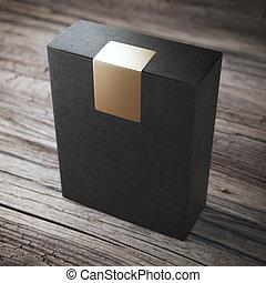 κουτί , αυτοκόλλητη ετικέτα , μαύρο
