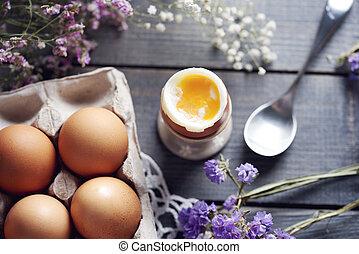 κουτί , βραστό , άγαρμπος βάζω στο τραπέζι , eggcup , αυγό