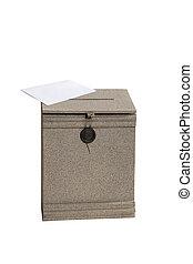 κουτί για γράμματα , γράμμα