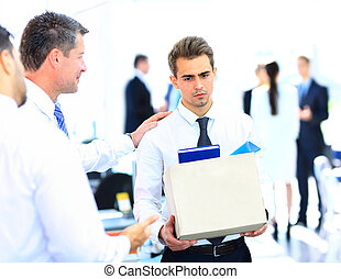 κουτί , επιχειρηματίας , άγω , απέλυσα