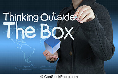 κουτί , σκεπτόμενος , έξω , γενική ιδέα , λέξη