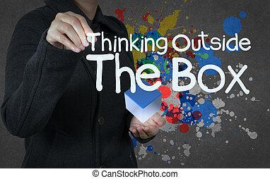κουτί , σκεπτόμενος , έξω , γενική ιδέα