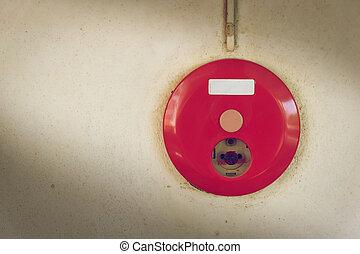 κουτί , συναγερμός πυρκαγιάς , σύστημα , τοίχοs , παραγγελία , ασφάλεια , έφιππος , κόκκινο