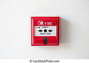 κουτί , φωτιά , κουμπί , σύστημα , τσιμέντο , εξωτερικός τοίχος οικοδομής αλλαγή , παραγγελία , σπρώχνω , ασφάλεια , τρομάζω