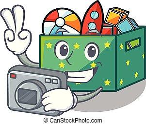 κουτί , φωτογράφος , μικρόκοσμος , γελοιογραφία , άθυρμα