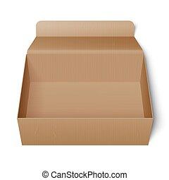 κουτί , χαρτόνι , ανοιγμένα