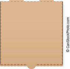 κουτί , χαρτόνι , πίτα με τομάτες και τυρί