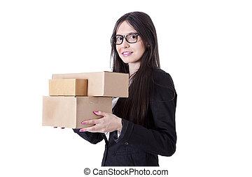 κουτιά , γυναίκα αρμοδιότητα , χαρτόνι