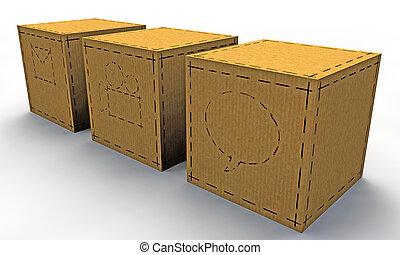 κουτιά , χαρτί