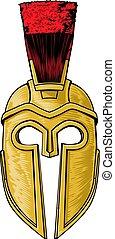 κράνος , γενναίο και φιλεργό άτομο , αρχαίος , spartan, ελληνικά , ρωμαϊκός