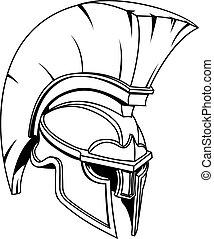 κράνος , spartan, ή , gladiator, γενναίο και φιλεργό άτομο