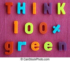 κρίνω , πράσινο