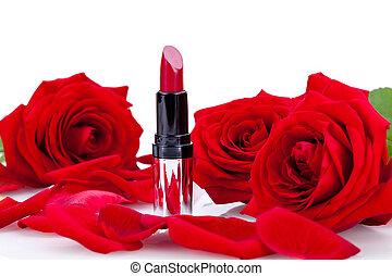 κραγιόν , άλικος , τριαντάφυλλο , ελκυστικός προς το...