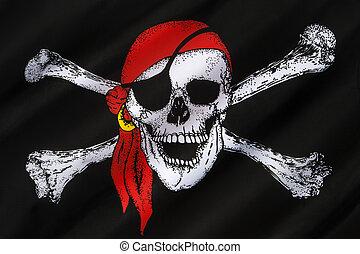 κρανίο και crossbones , σημαία , - , αγγλος πεζοναύτης roger