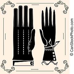 κρασί , γάντια