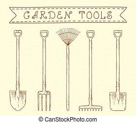 κρασί , εργαλεία , κήπος