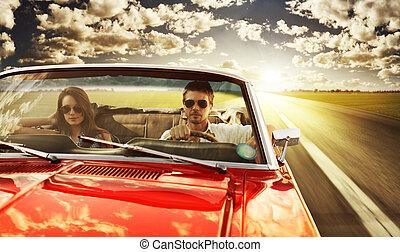 κρασί , ζευγάρι , αυτοκίνητο