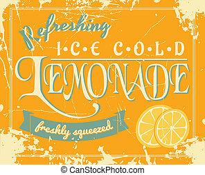 κρασί , λεμονάδα , αφίσα