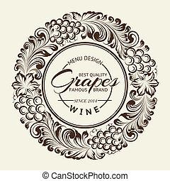 κρασί , πάνω , κόσμημα , sepia., ακτινικός
