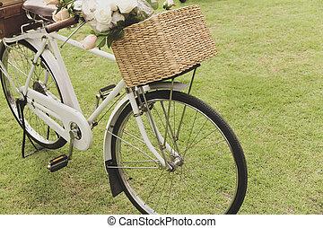 κρασί , ποδήλατο , επάνω , ο , πεδίο