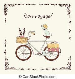 κρασί , ποδήλατο , illustration.