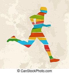 κρασί , multicolor , τρέξιμο , άντραs