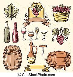 κρασί , set., κρασί , μετοχή του draw , χέρι
