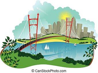 κρεμαστή γέφυρα , και , city.eps