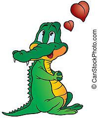 κροκόδειλος , ερωτευμένος
